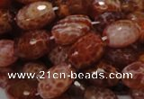 CAG601 15.5 inches 13*18mm faceted rice natural fire agate beads