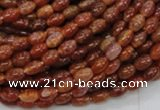 CAG603 15.5 inches 4*6mm rice natural fire agate beads wholesale