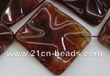 CAG6071 15.5 inches 30mm wavy diamond dragon veins agate beads