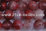 CAG6112 15.5 inches 8mm round south red agate gemstone beads