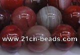 CAG6114 15.5 inches 12mm round south red agate gemstone beads