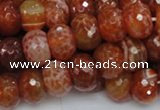 CAG613 15.5 inches 10*14mm faceted rondelle natural fire agate beads