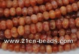 CAG615 15.5 inches 4*8mm rondelle natural fire agate beads