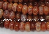 CAG616 15.5 inches 6*10mm rondelle natural fire agate beads