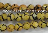 CAG6166 15 inches 10mm faceted round tibetan agate gemstone beads