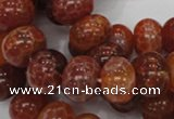 CAG617 15.5 inches 12*16mm rondelle natural fire agate beads