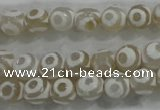 CAG6173 15 inches 14mm faceted round tibetan agate gemstone beads
