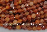 CAG619 15.5 inches 6mm faceted round natural fire agate beads