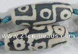 CAG6215 15 inches 15*40mm rice tibetan agate gemstone beads