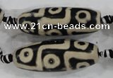 CAG6216 15 inches 15*40mm rice tibetan agate gemstone beads