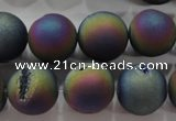 CAG6288 15 inches 20mm round plated druzy agate beads wholesale