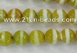 CAG6355 15 inches 10mm faceted round tibetan agate gemstone beads