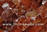 CAG650 15.5 inches 12*12mm faceted square natural fire agate beads