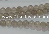 CAG6531 15.5 inches 4mm round Brazilian grey agate beads