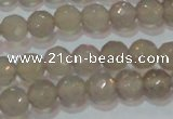CAG6536 15.5 inches 6mm faceted round Brazilian grey agate beads