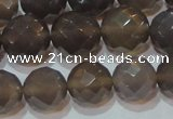 CAG6538 15.5 inches 14mm faceted round Brazilian grey agate beads