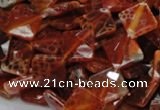 CAG654 15.5 inches 10*10mm faceted rhombic natural fire agate beads