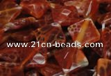 CAG655 15.5 inches 12*12mm faceted rhombic natural fire agate beads