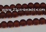 CAG6551 15.5 inches 5mm round matte red agate beads wholesale