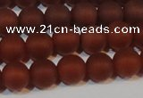 CAG6553 15.5 inches 7mm round matte red agate beads wholesale