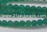 CAG6566 15.5 inches 4mm round matte green agate beads wholesale