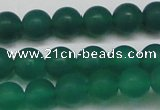 CAG6569 15.5 inches 8mm round matte green agate beads wholesale