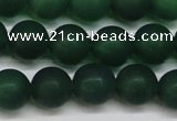 CAG6570 15.5 inches 10mm round matte green agate beads wholesale