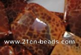CAG659 15.5 inches 40*40mm faceted rhombic natural fire agate beads