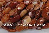 CAG660 15.5 inches 8*12mm faceted rectangle natural fire agate beads