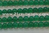 CAG6601 15.5 inches 2mm round green agate gemstone beads