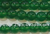 CAG6605 15.5 inches 8mm round green agate gemstone beads