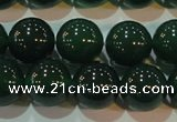CAG6607 15.5 inches 12mm round green agate gemstone beads