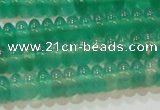 CAG6620 15.5 inches 3*6mm rondelle green agate gemstone beads