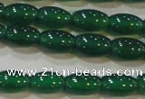 CAG6622 15.5 inches 6*9mm rice green agate gemstone beads