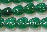 CAG6630 15.5 inches 8*8mm heart green agate gemstone beads