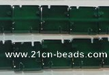 CAG6636 15.5 inches 10*10mm square green agate gemstone beads