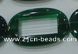 CAG6646 15.5 inches 25*38mm oval green agate gemstone beads