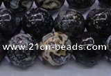 CAG6654 15.5 inches 12mm round blue ocean agate gemstone beads