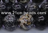 CAG6655 15.5 inches 14mm round blue ocean agate gemstone beads