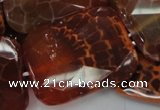 CAG666 15.5 inches 30*40mm faceted rectangle natural fire agate beads