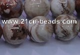 CAG6665 15.5 inches 14mm round Mexican crazy lace agate beads