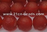 CAG6701 15 inches 10mm round red pilates agate beads