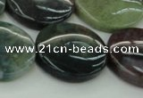 CAG6775 15.5 inches 25mm flat round Indian agate beads wholesale