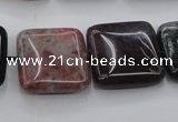 CAG6779 15.5 inches 14*14mm square Indian agate beads wholesale
