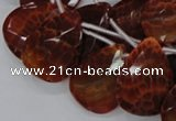 CAG679 15.5 inches 15*20mm faceted teardrop natural fire agate beads