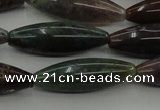 CAG6830 15.5 inches 10*30mm rice Indian agate beads wholesale