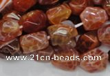 CAG687 15.5 inches 10*14mm nugget natural fire agate beads wholesale