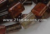 CAG688 15.5 inches 13*18mm rectangle dragon veins agate beads