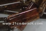 CAG689 15.5 inches 15*35mm rectangle dragon veins agate beads
