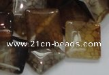 CAG691 15.5 inches 20*20mm rhombic dragon veins agate beads